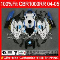 Wholesale Konica Cbr - Injection Body For HONDA CBR1000 RR CBR 1000RR 04 05 KONICA blue 79NO56 100% Fit CBR1000RR 04 05 Bodywork CBR 1000 RR 2004 2005 Fairing kit