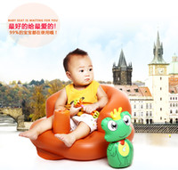 Wholesale Multifunctional Inflatable Sofa - Baby Inflatable Sofa Baby Thicker Multifunctional Chair Chair Portable Safety Backrest Bath Stool Seat Cushion
