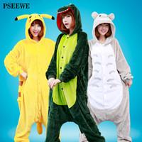 Wholesale Sexy Owl Shirt - New Flannel Anime Pijama Cartoon Cosplay Warm Bear owl Onesies Sleepwear Adult Unisex Homewear Animal Pajamas 22 Styles