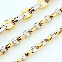 """Wholesale china choice - 18-36"""" For Choice 6mm Charming Women Mens Coffee Beads Link Stainless Steel Jewelry Wholesale"""