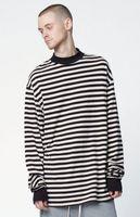 Wholesale Christmas Fashion Tshirts - Justin Bieber T shirt Clothes Streetwear T-shirt Men Hip Hop Striped Oversized Long Sleeve Mens TShirts Fashion 2016 Christmas Male tee
