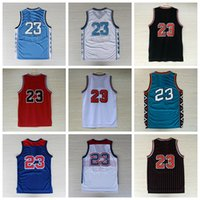 Wholesale Michael Manning - HOT!! Men's #23 Michael MJ Jersey Throwback College All Star 100% Embroidery Logo Stitched Basketball Jerseys Free Shipping