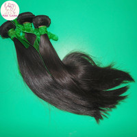 Wholesale Great Remy Hair - Never End Beautiful 8A Virgin Indian Silky Straight Hair Weave 3 Bundles Full Luster Great Product No Tangle Free Shedding