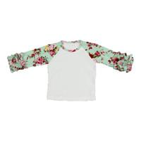 0147c0f5 Floral Icing Baby Girls T-shirt Fashion Autumn Winter Ruffle Sleeve Girls  Tees Hot Sales Children Icing Raglan T-shirt