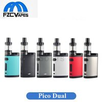 Wholesale E Cigarettes Charging Vape - Authentic Eleaf Pico Dual 200W Kit TC Box Mod 200Watt Vape Mod Original Geninue 510 Thread Micro USB Charging E Cigarette Starter Kit