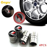 Wholesale Cars Toyota Trd Badges - Car Wheel Tire Valves Tyre Stem Caps Airtight Cover Case TRD Emblems Badges For Toyota Corolla Rav4 Yaris Car Styling Accessories 4PCS