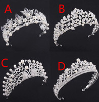 Wholesale High Wedding Crown - High End 2018 Luxury Pearls Crystal Beading Wedding Crown Jewelry Headpieces Headbands Women Bridal Tiaras Party Formal Hair Accessories