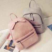 sac à dos korea achat en gros de-Vente en gros- Sac à main pour femme New Fashion Casual Sac en cuir féminin en cuir féminin Sac à dos Candy