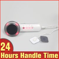 Wholesale Micro Current Massager - 3in1 Ultrasonic Cellulite Removal Body Slimming Heat Electric Massager Far Infrared Micro Current Skin Lifting Beauty Equipment