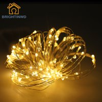Wholesale Led String Lights Outdoor Use - Wholesale- Beautiful Garlands Copper Led String Lights 10M 100Led Battery operate waterproof Outdoor use decoration light fun life 7 colors