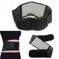 Wholesale Magnetic Waist Support - Wholesale- New Infrared Magnetic Back Waist Support Lumbar Brace Belt Fitness Double Pull Strap Lower Pain
