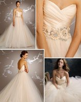 Wholesale Silk Organza Sweetheart Neck Wedding - blush pink wedding dresses 2017 tulle ball gown pleated silk satin organza floral jewel natural waist circular chapel train