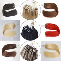 Top qualité micro ring weft cheveux cuticule bon marché intact virgin remy malaysian micro tressage cheveux 1g / stand diverse couleur disponible
