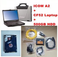 Wholesale Laptop Mode Tools - 2017 Expert Mode For BMW ICOM A2 b c + 07 2017 Rheigold ISTA isid Software CF52 laptop+ ICOM A2 diagnostic & Programming engineer tool