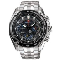Wholesale Gents Wristwatches - AAA quality EF-550RBSP-1A EF-550RBSP big dial SPORT Quartz Watches Men's sliver stailness strap wristwatch gents Sport Watches+box