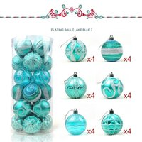 Wholesale 6cm Blue Christmas Ball - Free shipping Christmas decorations Wholesale-24pcs lot 6cm Christmas Tree brightly Decoration Matt Glitter Bottled Plastic Plated Ball