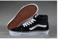 Wholesale Cheap Hi Tops - High Tops SK8-Hi Canvas Shoes Cheap Classic White Black Red For Women And Mens Skateboarding Sneakers Casual Shoes