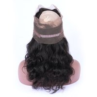 Wholesale Hair Band Extensions - 9A Grade 360 Lace Frontal Band Body Wave Brazilian Virgin Human Hair Extensions Pre Plucked Natural Hairline Full Lace Frontal Closure 360