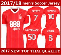 Wholesale New Forest - top quality 2017 2018 new Nottingham Forest soccer jerseys 17 18 home red MATTY FRYATT LANSBURY MATT Assombalonga Forest football shirts
