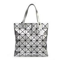 Wholesale Tote Bag Mochila - YUTUO Handbag BaoBao Bag Female Folded Geometric Plaid Bag BAO BAO Fashion Casual Tote Women Handbag Mochila Shoulder Bag