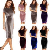 Wholesale Evening Gowns Wholesale Sleeves - 2017 Mermaid Velvet Fabric Evening Dresses High Quality Charming Celebrity Gowns Prom Dress