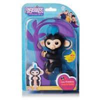 Wholesale Electronic Toys For Children - 2017 Finger Monkeys Interactive Baby Monkey Finger Toys 6 Colors Electronic Smart Touch Finger Monkey toys for children Christmas Gifts