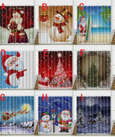 Wholesale Modern Pattern Curtains - Snowman Shower Curtain Merry Christmas Sleepy Snowman Pattern Bathroom Decorate Shower Curtain Santa Claus Bath Curtain 150*180cm 180*180cm