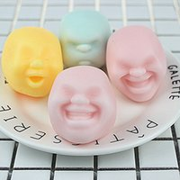 Wholesale Mood Rings Colors - New Arrival Funny 3 Sugar Colors Human Face Minifigures Anti Stress Relieve Against Humanity Bad Mood Key Ring Gifts for Kids