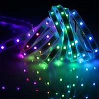 Wholesale Waterproof Tube Digital Rgb - LED Strip light 5m 5050 digital RGB 150LED IP67 tube waterproof dream magic color 12V Led Strip 30LED m WS2811 IC Digital strips