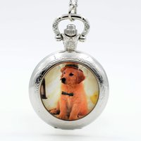 Wholesale Womens Dresses Necklace - Wholesale-New Fashion Handsome Dog Black Silver Bronze Quartz Pocket Watch Analog Pendant Necklace Mens Womens Watches Gift