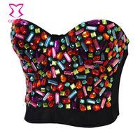 Wholesale Sexy Plastic Lingerie - Plastic Beads Bra Top,32B 34B 36B 38B 40B,Sexy Clubwear,Lingerie,Party prom Costumes