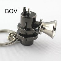 Wholesale Auto Blow Sale - 10pcs Lot BOV Keychain Creative Hot Sale Blow Off Valve Auto Parts Accessories Key Chain Ring Keyfob Key Holder Keyring