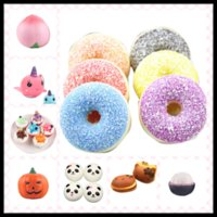 Wholesale Plastic Charms For Kids - Creative Soft Toys 30 PCS Kawaii Squishy Slow Rising Pendant Phone Straps Gadget Charms Birthday Gifts for Kids