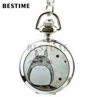 Wholesale Small Cute Watches - 3 pieces Wholesale Small Cute Galesaur Quartz Movement Necklace Full Hunter Pendant Pocket Watch Long Chain
