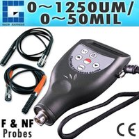 Wholesale CM FN Digital Paint Coating Thickness Meter Gauge um mil Range with Ferrous F Non Ferrous NF Seperate Probes