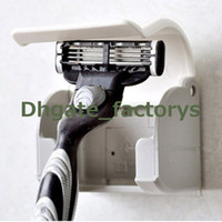 Wholesale Men s Razor Shaver Plastic Razor Rack Sucked Suction Cup Holder Hanger Holder Bathroom Tools