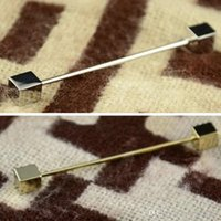 Wholesale Wholesale Collar Clips - Mens Necktie Tie Clip Bar Clasp Cravat Pin Skinny Collar Brooch Jewelry C00030 FASH