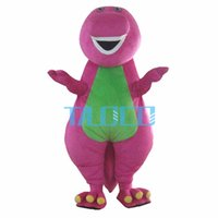 Wholesale Dragon Mascot Purple - Purple dragon Mascot Costume Adult Character Free shipping High-quality adult size