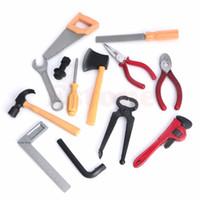 Wholesale building repairs - New 1set DIY Plastic Gifts Children Kids Boy Building Repair Tool Kits Set Construction Toy