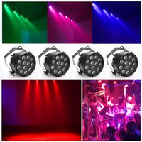 Wholesale Dmx 8ch - RGBW Par Up Lighting Slim Par LED Light DJ DMX Color Mixing 8CH Can Background Stage Sound Activated Stand Lamp 12 LEDS