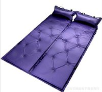 Wholesale Inflatable Tent Free Shipping - Wholesale- Automatic Inflatable Cushion, with Pillow Pad Tent sleeping Mat, Moistureproof Mat, 3 colours for your option, free shipping