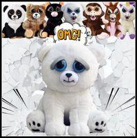 Wholesale Wholesale Stuffed Dogs - 11 Styles 20cm New Feisty Pets Funny Toys Cartoon Monkey Dog Animal Plush Stuffed Doll Toys For Children Adult Xmas Gift CCA8186 30pcs