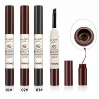 Wholesale Novo Free Shipping - NOVO Beauty eyebrow Definder cream waterproof Long lasting eyebrow pencil 3 Color for beauty eyebrow Enhancers Pencil Free DHL Shipping