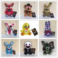 Wholesale Freddy Doll - Hot ! 9pcs Lot Five Nights At Freddy's 4 FNAF Golden Freddy foxy Bonnie Chica Plush Toys stuffed doll kids gift S-041
