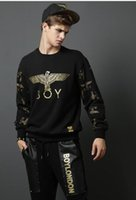 Wholesale Selling Boy London - 2017 hot sell boy london arm lovers long sleeves bronzing round neck sweater men and women lovers coat free shipping