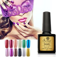 Wholesale Wholesale Nial Polish - Wholesale-Saviland 10ml metallic mirror nail gel soak off UV gel polish Gold Silver color high quality and shiny metal gels nial