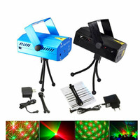 Wholesale Green Red Laser Dj Lighting - Voice-activated & Auto Model 150mW Red and Green Mini Laser Stage Light Stars LED Effects Lighting for Bar Club Party Room Joyful Lights