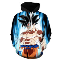 Wholesale Dragon Ball Sweater - The 2017 Anime Style Loose Hooded Sweater Hoodie Size Suit Couple Stamp Dragon Ball Z Anime Goku Long Sleeve Polyester Pullover Hip Hop