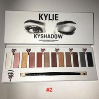 Nuovo arrivo 2017 Kylie 12color kyshadow Pressed Powder Eyeshadow opaca gel ombretto versione occhio impermeabile ombra 3