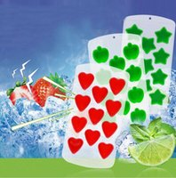 Wholesale Love Ice Cream - Silicone Ices Maker Mold Fruits Mould Love Apple Stars Grape Shape Ice Cube Tray Chocolate Mold For Home Kitchen Tool KKA1837